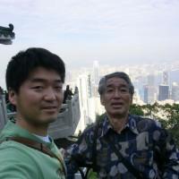香港 山頂にて