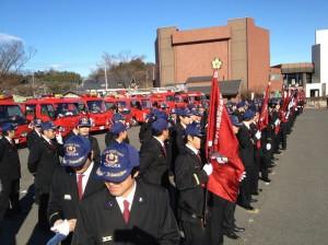 富岡市消防隊出初式